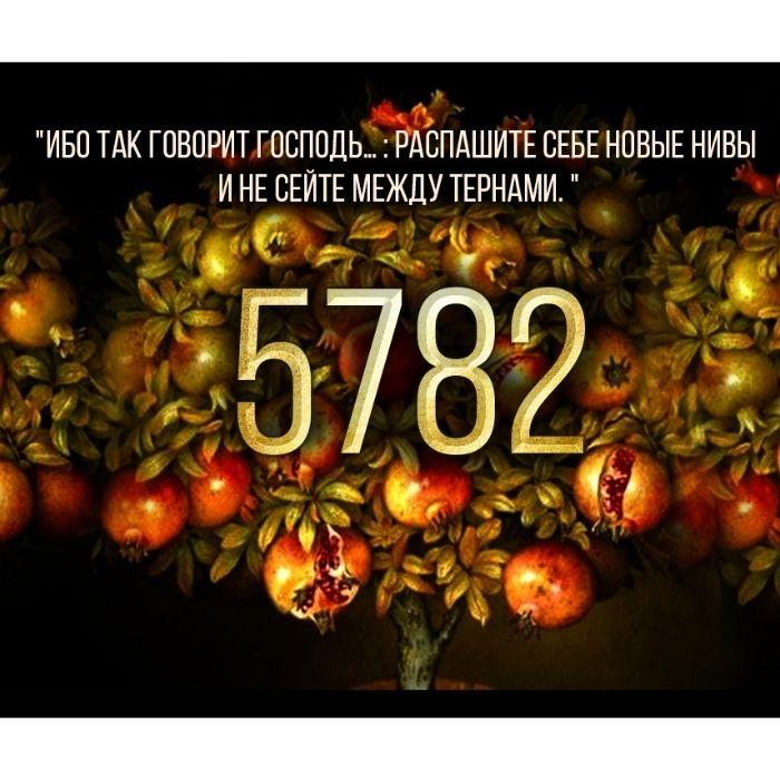Рош Хошана 5782